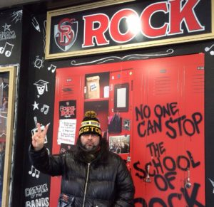 New York City, men. School of Rock.